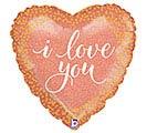 "18""ILY ROSE GOLD LOVE HEART"