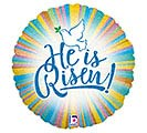 "18""REL HE IS RISEN HOLOGRAPHIC"