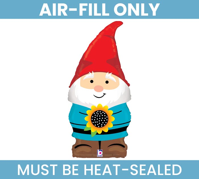 "14""FLAT GARDEN GNOME MUST FILL WITH AIR"