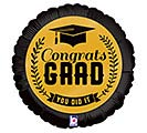 "9""INFLATED CONGRATS GRAD GOLD"