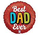 "18""DAD BOLD BEST DAD EVER"