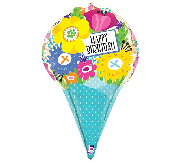 "31""PKG DIMENSIONALS BIRTHDAY BOUQUET"