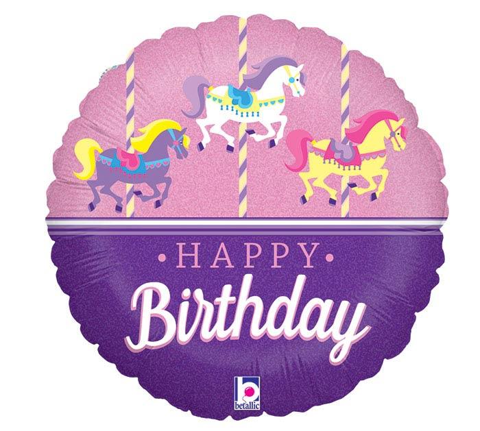 "18""PKG HBD CAROUSEL BIRTHDAY"