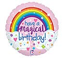 "18""PKG HBD GLITTER MAGICAL RAINBOW BIRTH"