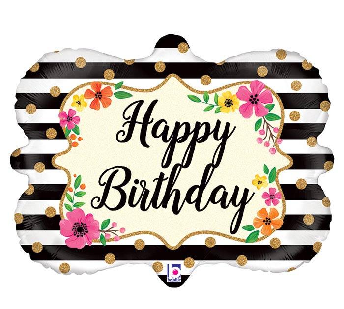 "30""PKG FLORAL FRAME BIRTHDAY"