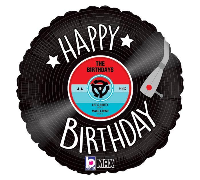 "18""PKG HBD RECORD BIRTHDAY"