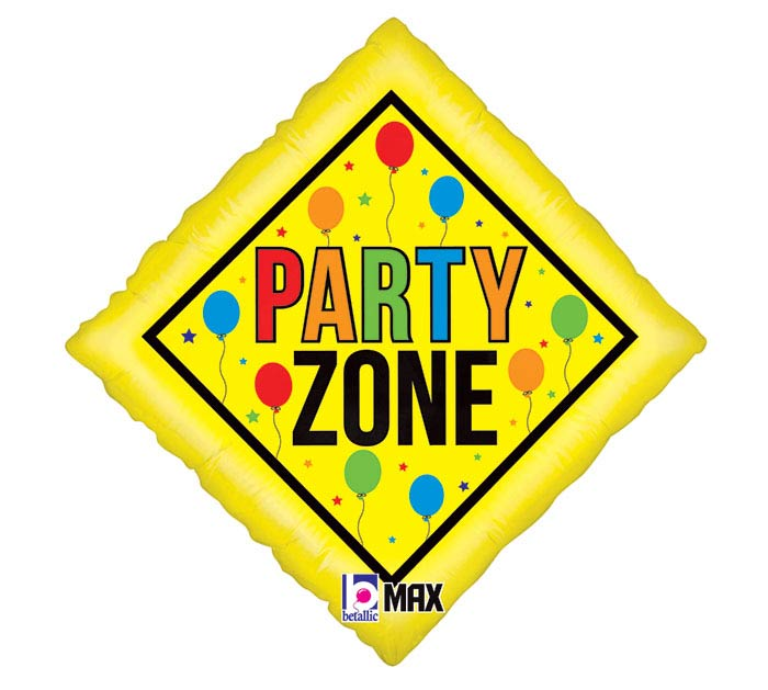 "18"" PKG PARTY ZONE FOIL BALLOON"
