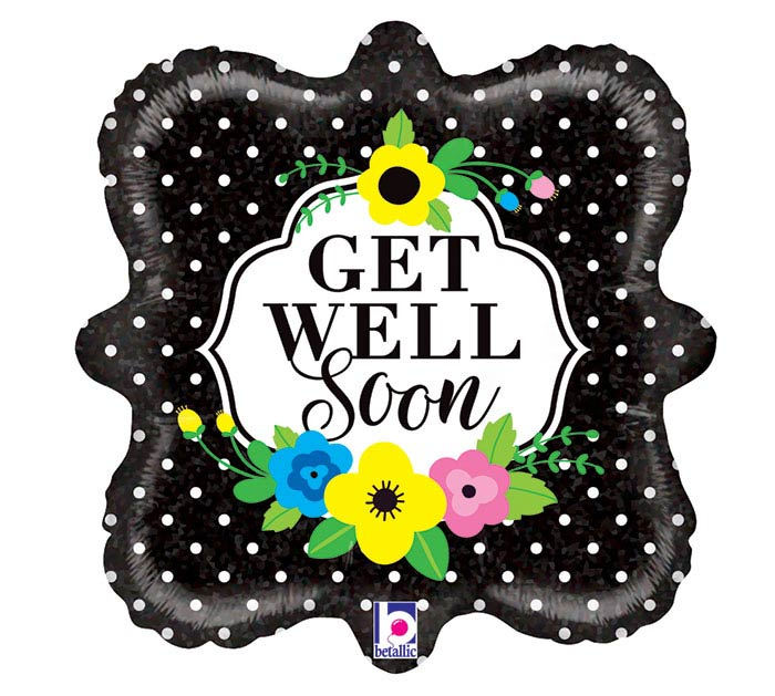 "18""PKG GWS FLORAL GET WELL SOON"