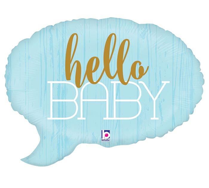 "24""PKG HELLO BABY BLUE"