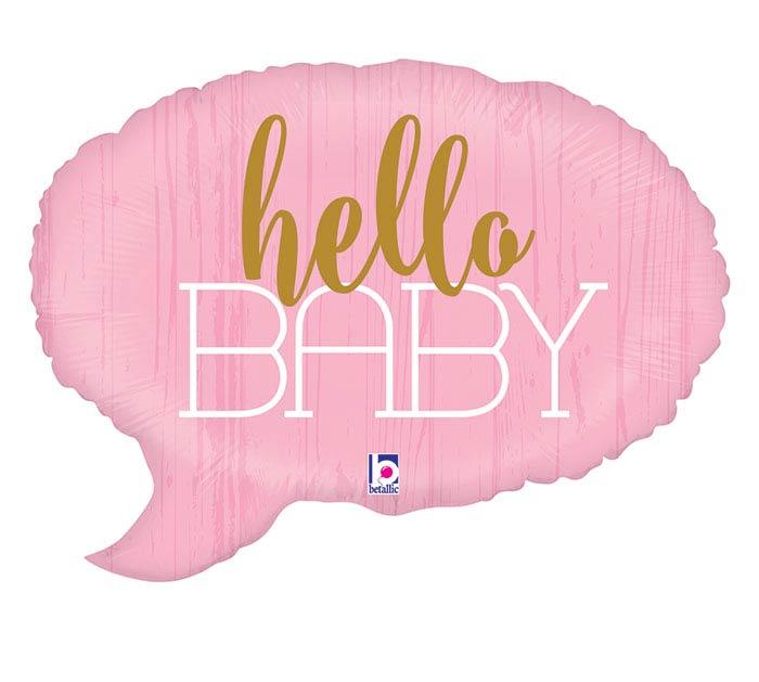 "24""PKG HELLO BABY PINK"