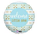"18"" PKG BABY BALLOONS WELCOME LITTLE ONE"