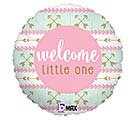 "18""PKG BBY WELCOME LITTLE ONE PINK"