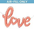 "47""PKG LOVE SCRIPT ROSE GOLD"