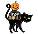 "44"" HALLOWEEN BLACK CAT SHAPE"