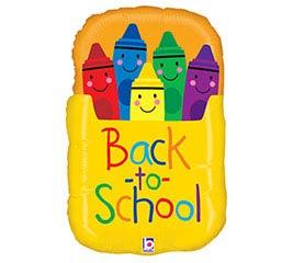 "28"" BACK TO SCHOOL CRAYON BOX SHAPE"