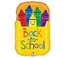 "28"" BACK TO SCHOOL CRAYON BOX SHAPE"