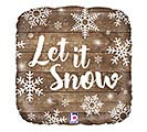 "18"" LET IT SNOW SQUARE"