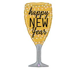"""37"""" NEW YEAR CHAMPAGNE GLASS"""