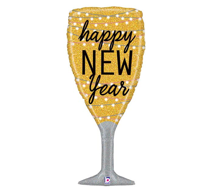 "37"" NEW YEAR CHAMPAGNE GLASS"