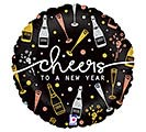 "18"" NEW YEAR CHEERS HOLOGRAPHIC"