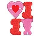 "46"" LOVE HEART  ARROWS 1st Alternate Image"
