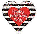 "30"" BLACK AND WHITE STRIPES VAL HEART"