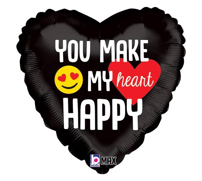 "18""PKG EMOJI HAPPY HEART"