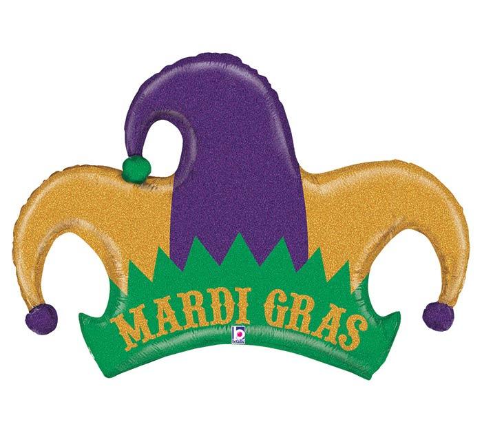 "42"" MARDI GRAS JESTER HAT"