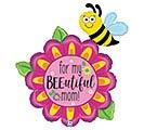 """38"""" BEE-UTIFUL MOM FLOWER SHAPE"""
