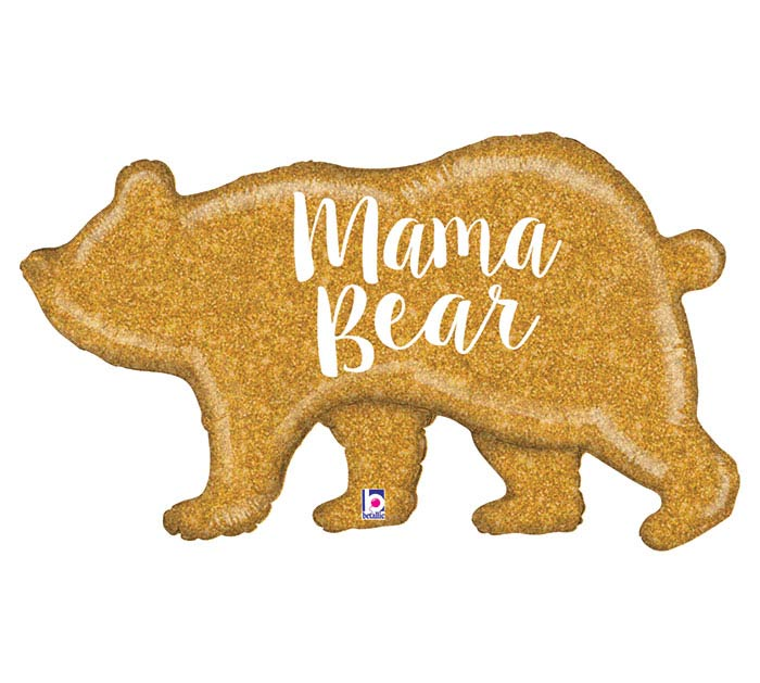 "39"" MAMA BEAR GLITTER HOLOGRAPHIC"