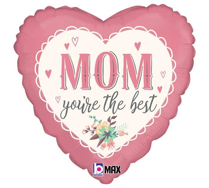 "18"" VINTAGE BEST MOM HEART"