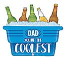 "33"" COOLEST DAD COOLER SHAPE"