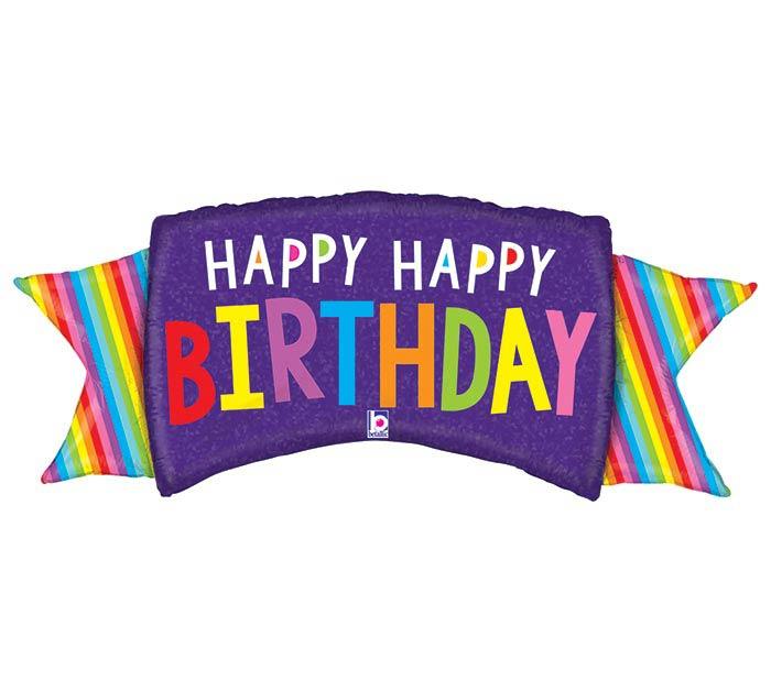 "46""PKG RAINBOW BANNER BIRTHDAY"