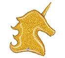 """38""""PKG GOLD GLITTER UNICORN"""