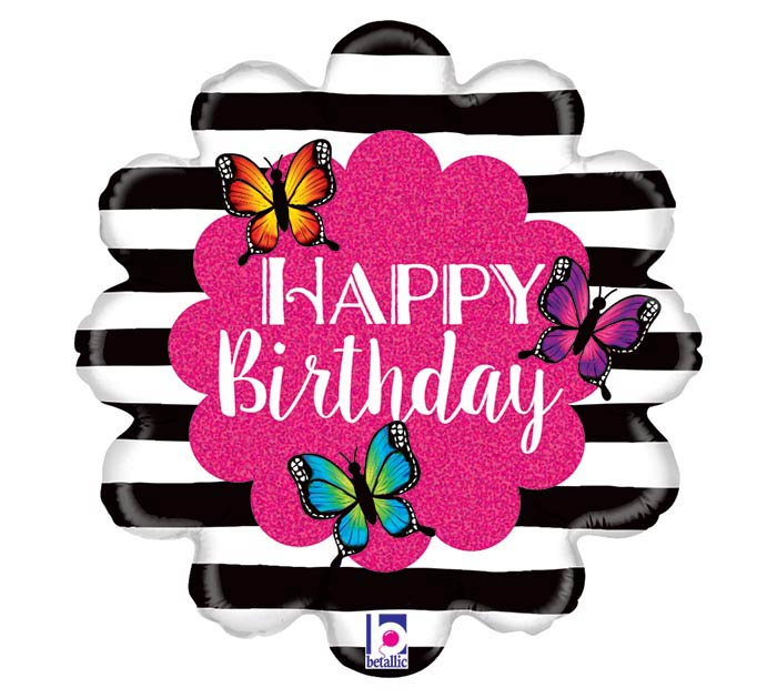 "18""PKG RADIANT BUTTERFLY BIRTHDAY"