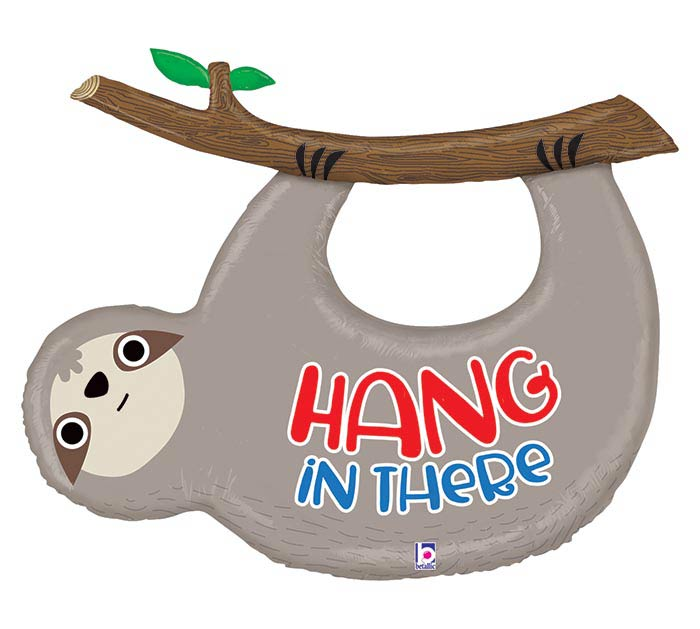 "42""PKG HANG IN THERE SLOTH"