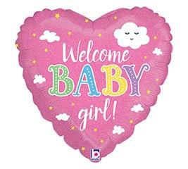 "18""PKG WELCOME BABY GIRL"