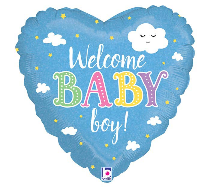 "18""PKG WELCOME BABY BOY"