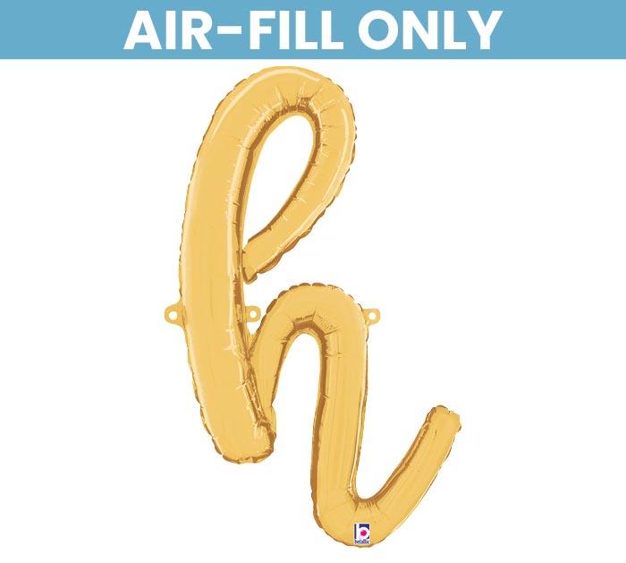 H Letter Images.24 Pkg Gold Script Letter H