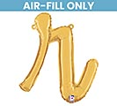 "14"" PKG GOLD SCRIPT LETTER R"