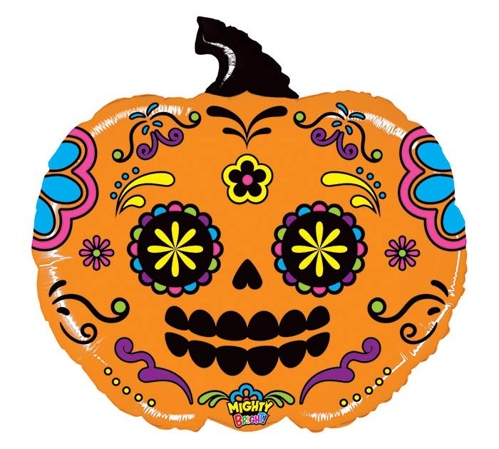 "28"" MIGHTY PUMPKIN SUGAR SKULL"