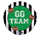 "18"" PKG GO TEAM FOOTBALLS BALLOON"
