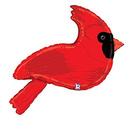 "34""PKG RED CARDINAL SHAPE"