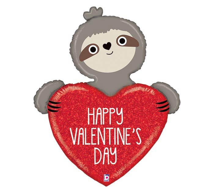 "35""PKG VALENTINE SLOTH SHAPE"