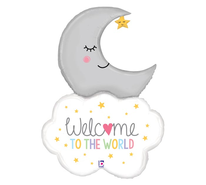 "42"" PKG WELCOME BABY MOON SHAPE"