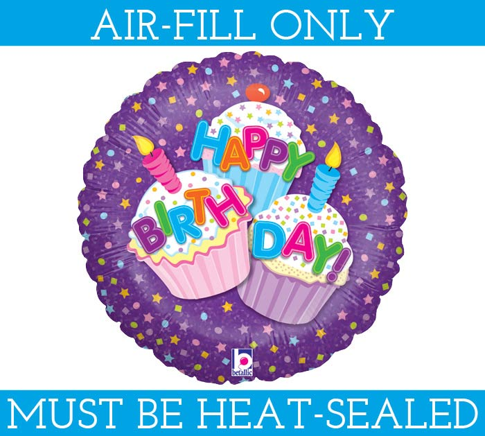 "9"" FLAT HAPPY BIRTHDAY MINI BALLOON"