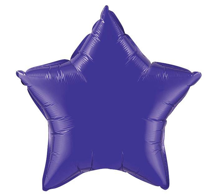 "20""PURPLE STAR SHAPE"