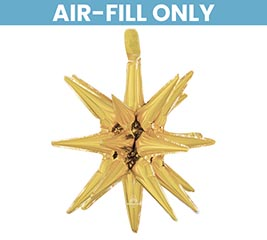 "20"" PKG GOLD MAGIC STAR BALLOON"