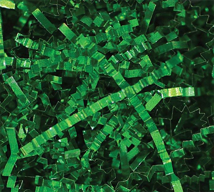 5LB PUREMETALLIC SHRED GREEN CRINKLE CUT