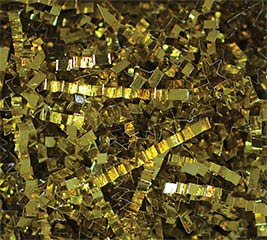 5LB PUREMETALLIC SHRED GOLD CRINKLE CUT